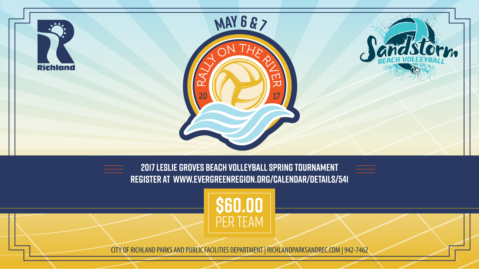 Richland Partners with Sandstorm Beach Volleyball for Rally on the River