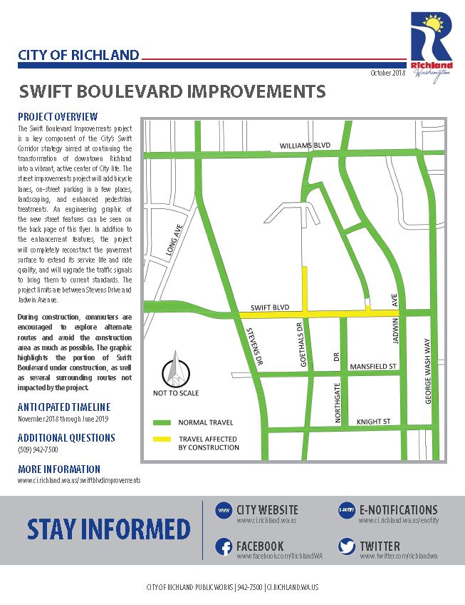 Swift Boulevard Informational Flyer