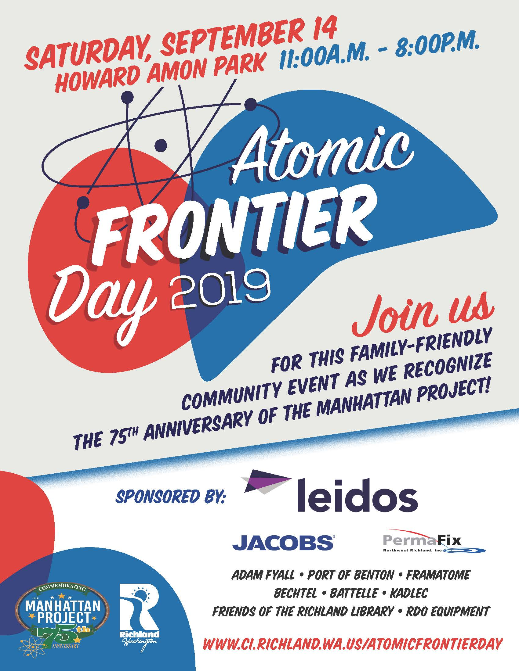 Atomic Frontier Day Sponsor flyer