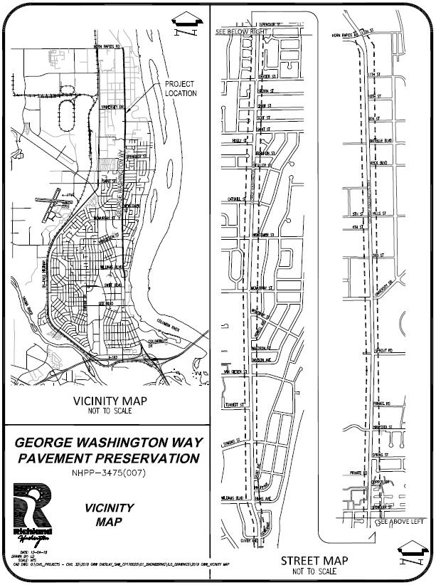 Image of George Washington Way Project Boundaries
