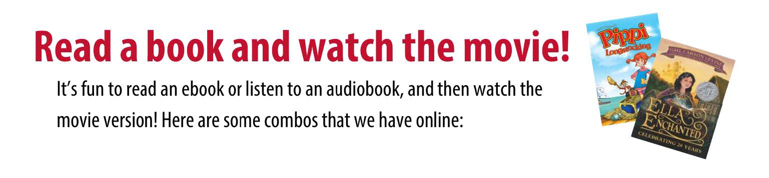 Read a Book and Watch the Movie click for list